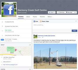 http://www.facebook.com/pages/Harmony-Creek-Golf-Course/105530026200641